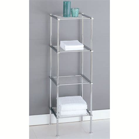 Bathroom Shelving Bathroom Shelf Organizer Shelves Storage Cabinet Closet Toilet Towel Rack Chrome Ebay