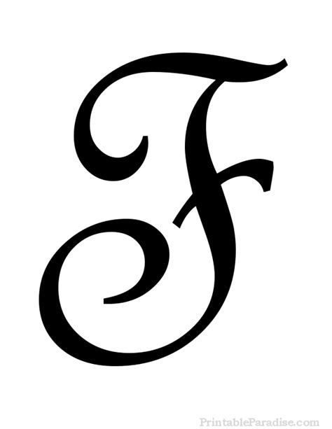 tattoo letter f printable letter f in cursive writing letters