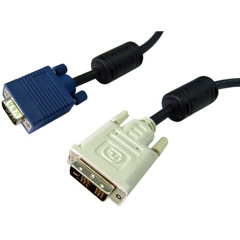 2 meter black analog dvi to vga cable dvi a to hd15