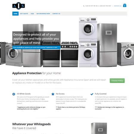 house appliance insurance home webvision website design development