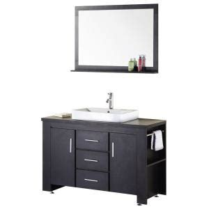 design elements vanity home depot design element washington 48 in w x 22 in d vanity in espresso with wood vanity top and mirror