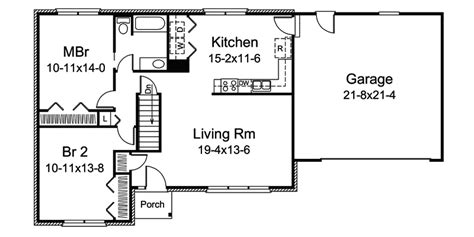 basic home floor plans rosebury lake ranch home plan 008d 0102 house plans and more