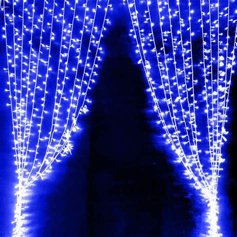 300 Blue Led Curtain Fairy Lights Wedding Christmas Diyoz Curtain Of Lights