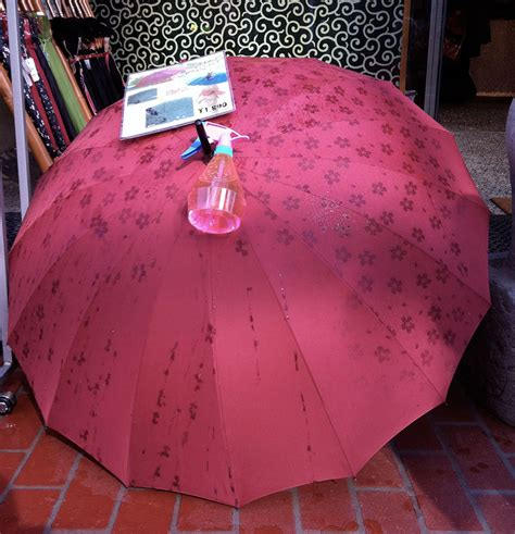 Hidden Pattern Umbrella | these umbrellas reveal hidden patterns when wet memolition