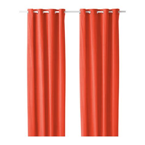 Ikea Velvet Curtains Ikea Sanela Curtains Drapes 2 Panels Orange Velvet 98 Quot Grommet Eyelet Top