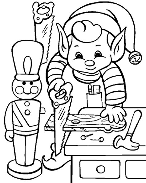 Coloring Pictures Of Santa And Elves | santa s coloring pages