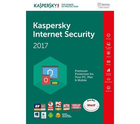 Security Kaspersky Kaspersky Security 2017 10 Devices For 1 Year Deals Pc World
