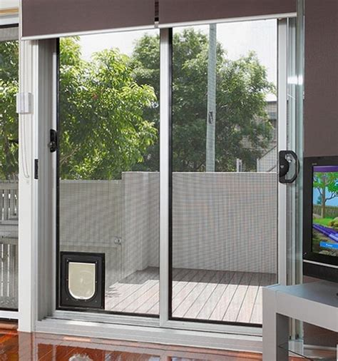Pet Door For Sliding Glass Door 25 Benefits Of Doors For Sliding Glass Doors Interior Exterior Ideas