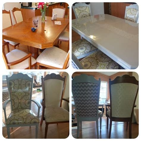Diy Paint Dining Room Table Diy Dining Table Refinish And Reupholster I Refinished This Set Of Tables And Chairs That