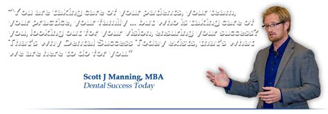 For Dentists With Mba by Dental Success Today With J Manning Mba
