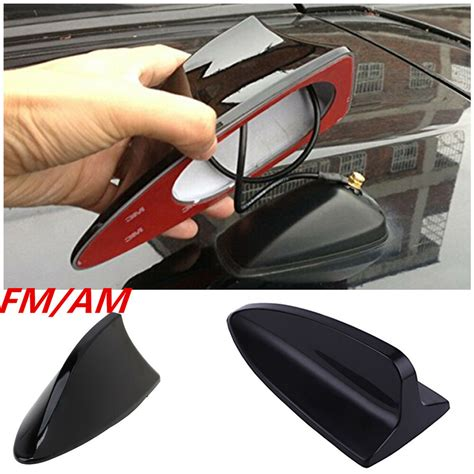 new auto car shark fin universal roof antenna radio fm am decorate aerial black ebay