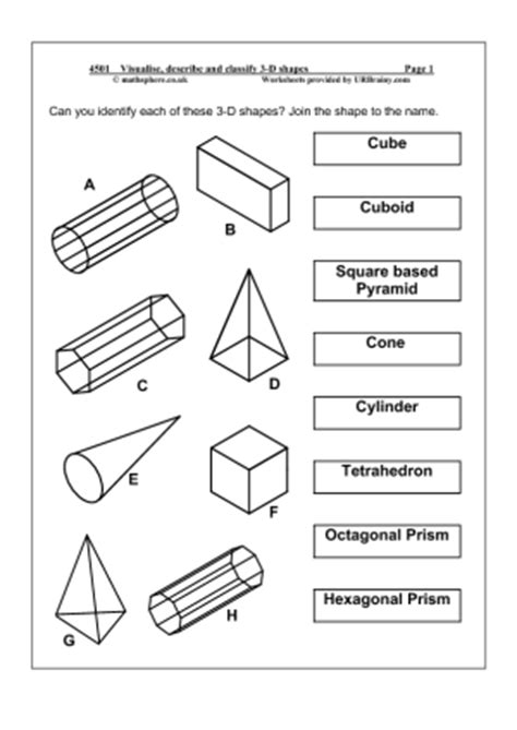 shapes worksheets year 5 3d shapes worksheet for year 5 geometry cheat