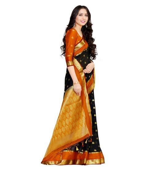 Mimosa Black mimosa black crepe saree buy mimosa black crepe saree