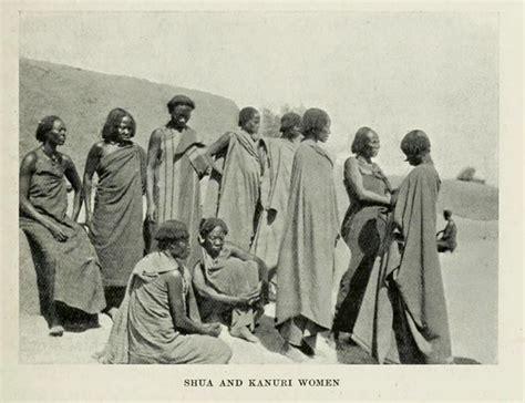 kanuri hairstyles suwa short hair and kanuri longer hair women in khanem