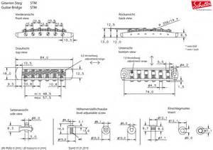schaller 451 tune o matic style roller stm bridge nickel 12080100 ebay