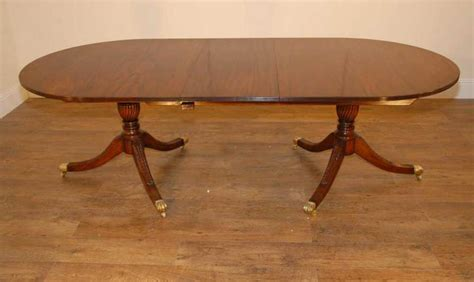 regency mahogany 2 pedestal dining table