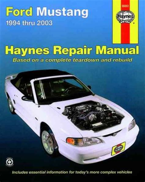 ford mustang 1994 2003 haynes service repair manual sagin workshop car manuals repair books