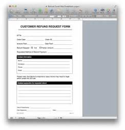 forms templates refund request form template for apple pages pdf