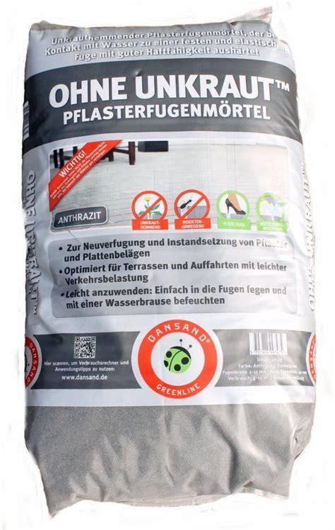 Feste Fuge Pflaster 4253 by Dansand Pflaster Fugen M 246 Rtel Terrasse Auffahrt Anthrazit