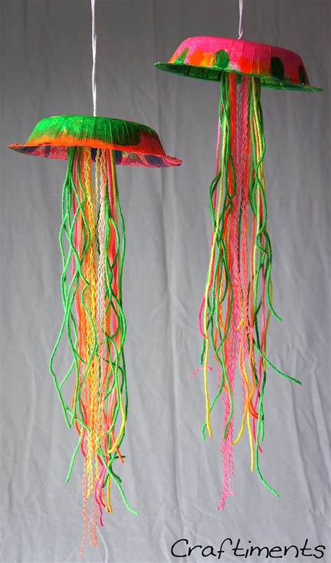 kid crafts glow in the jellyfish think crafts by createforless