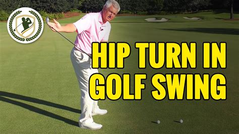 golf swing lessons hip turn in the golf swing lesson
