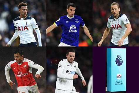 epl player of the month october 2017 ea sports player of the month shortlist revealed