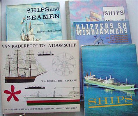 informatie scheepvaart scheepvaart lot met 5 boeken over schepen en boten 1960