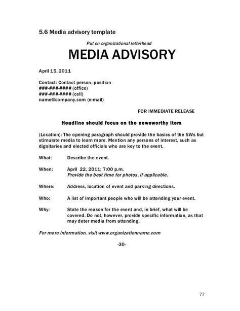 media advisory template media advisory templatenokiaaplicaciones
