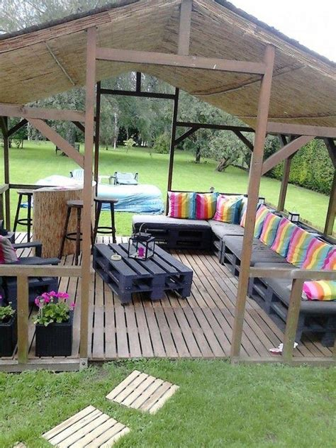 diy backyard patio 15 diy outdoor pallet sofa ideas diy and crafts