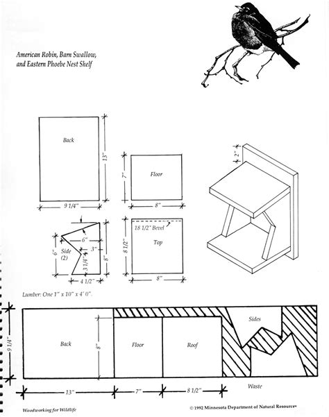 free blue prints free bird house plans easy build designs