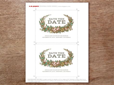 wedding save the date text exles pretty fast and easy a printable save the date template that s for a fall wedding