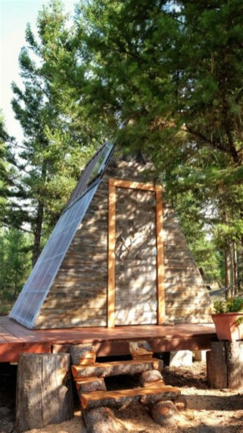 this tiny a frame cabin took 3 weeks to build and cost