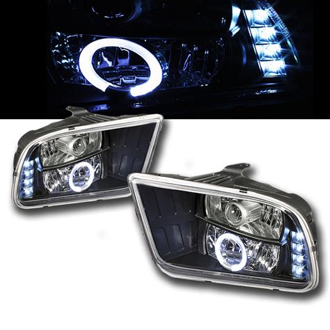 mustang eye headlights 2005 2009 ford mustang eye halo led projector