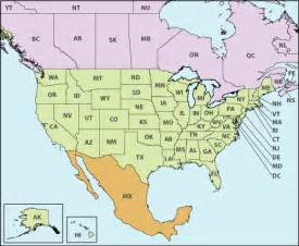 united states map with canada and mexico u s canada mexico cross border operations by