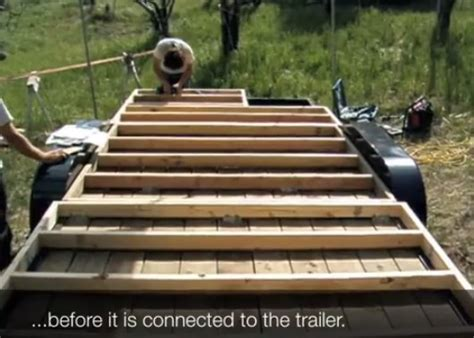 How To Floor And Frame A Tumbleweed Tiny House On A Tiny House Framing Plans On A Trailer