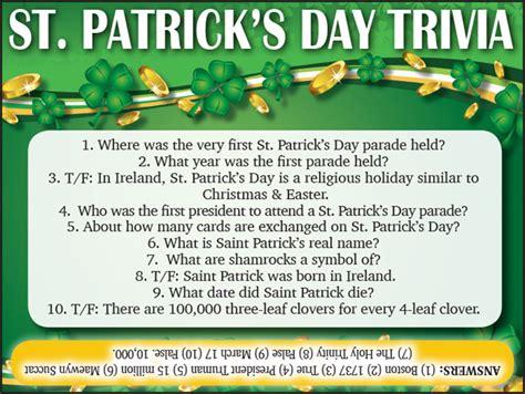s day trivia st s day trivia jamestown gazette