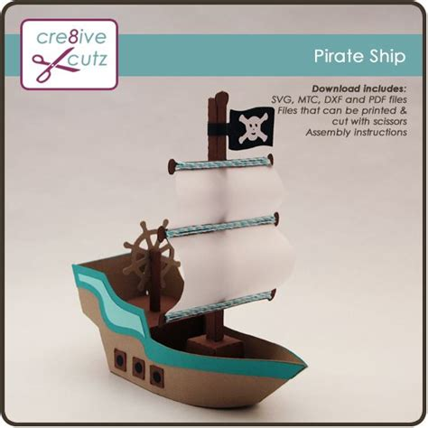 How To Make A Paper Pirate Ship - aargh matey sail the high seas with this 3d pirate ship