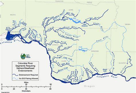 washington rivers map columbia river map