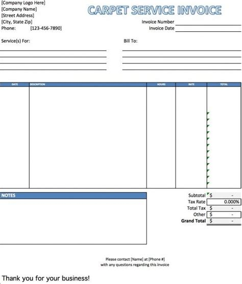 carpet installation receipt template free carpet cleaning service invoice template excel