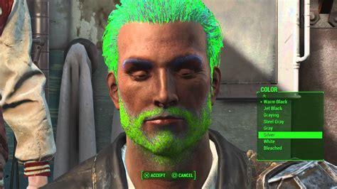 fallout 4 hair color fallout 4 rainbow hair color bug youtube