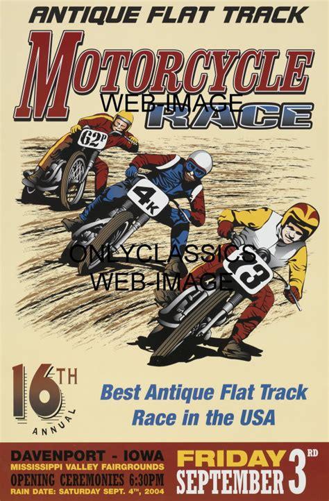 Plakat Club Motor by Vintage Motorcycle Racing Dirt Flat Track Graphics