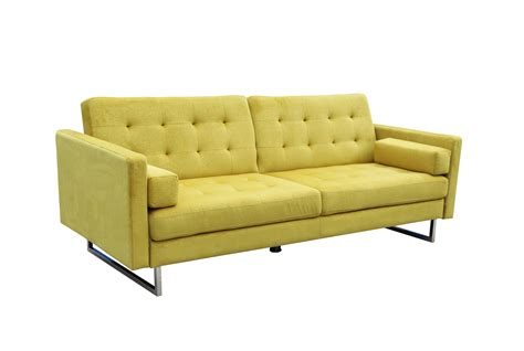 yellow sofa bed verona sofa bed yellow by new spec