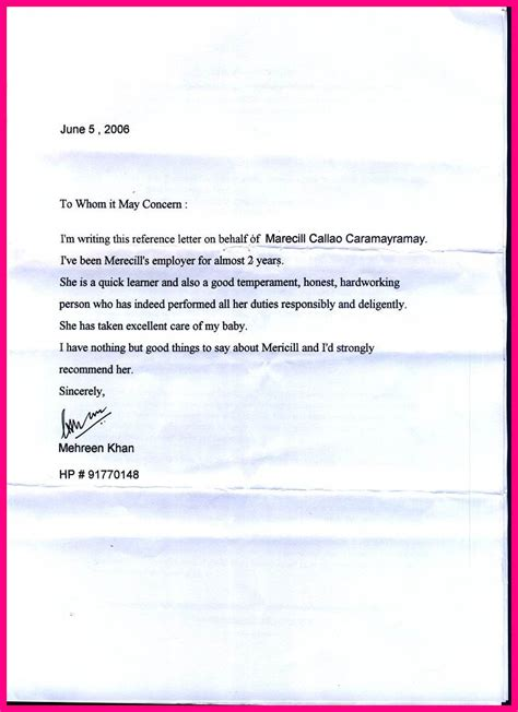 Reference Letter From Previous Employer 8 Letter Of Recommendation For A From Previous Employer