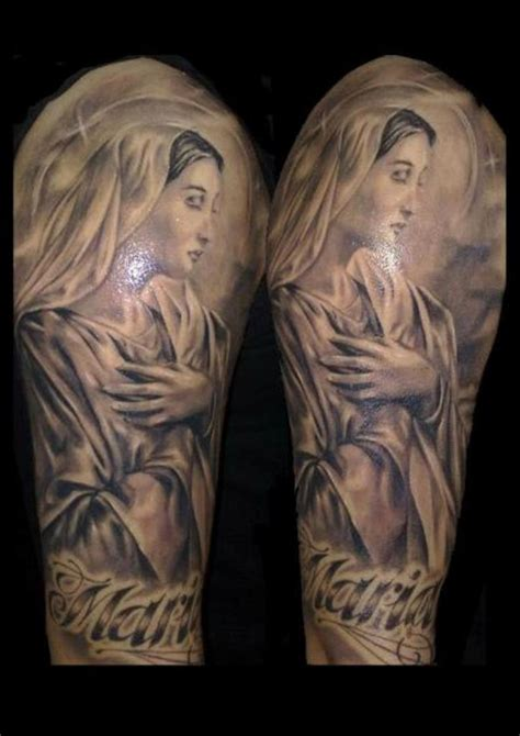 tattoo designs mama mary 53 adorable religious shoulder tattoos