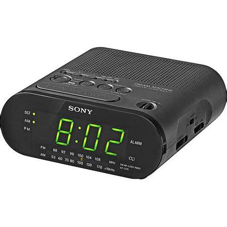 sony alarm clock am fm radio with green led display walmart