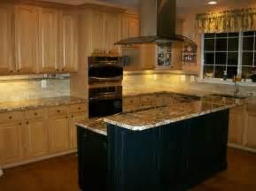 oak kitchen cabinets black island design ideas