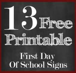 Day Of School Sign Template by Day Of School Day Of School Sign Printable