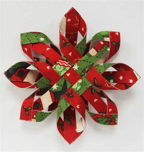 Pattern For Woven Snowflake Ornament | woven snowflake ornament pattern kit single
