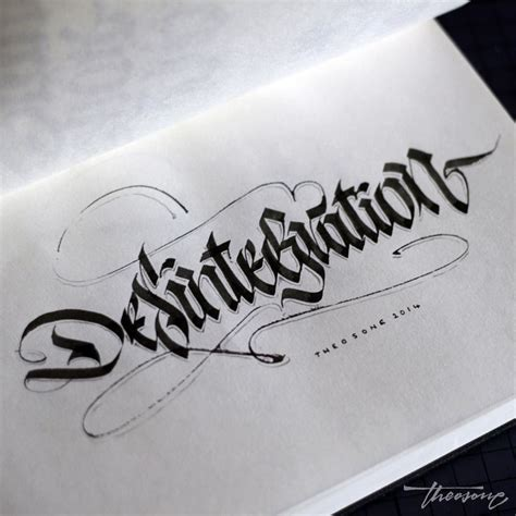 tattoo calligraphy pen calligraphi ca desintegration parallel pen and pencil