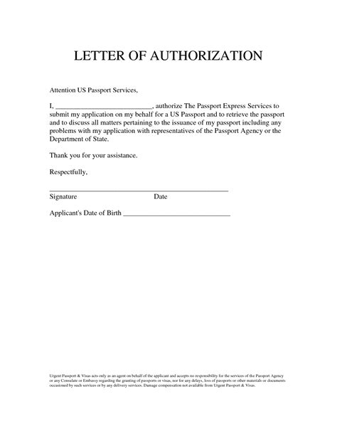 official authorization letter format authorization letter sle to act on behalf the best